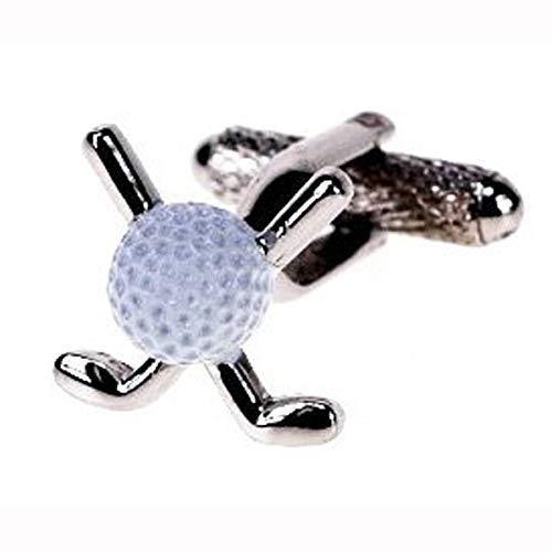 Nouveauté - Boutons de manchettes - Blanc Balle golf - CK183 - Hommes Designer Mode - présenté dans un écrin - Onyx Art - Parfait Cadeau pour fête des