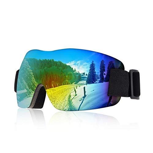 FGGTMO Gafas de esquí, esquí Snowboard Gafas de protección UV de Doble Lente con Anti Niebla, Hombres, Mujeres, Compatible con Casco, for el esquí, Patinaje (Color : A)