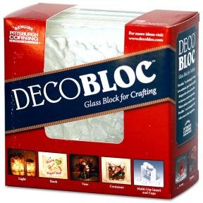 Quality Glass Block 6 x 6 DecoBloc IceScapes Glass Block