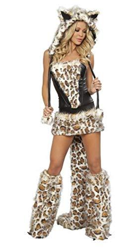 Jiaxin Sexy Leopard Halloween Cosplay Costumi-per-giochi di ruolo Costume di carnevale Corto...
