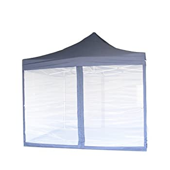 Pop Up Canopy Tent With Net Screen Gazebo with Netting Enclosure  10  x 10