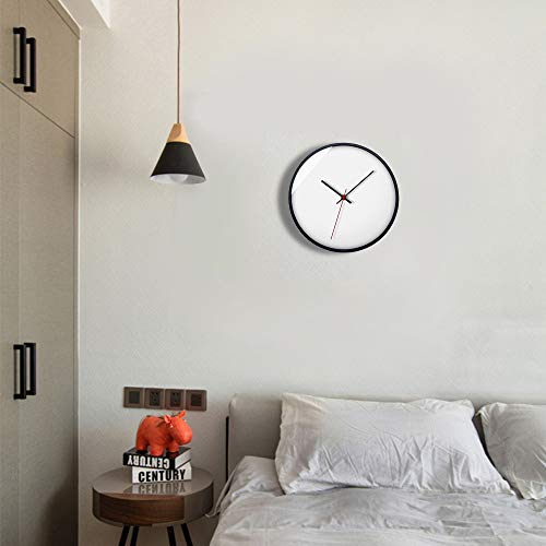 Digitale Wecker-Hansee, Tischuhren Uhr Funk-Wecke Reisewecker Europäisches Minimalistisches Kreatives Wanduhr Wohnzimmer Verziert mit Metalluhr Alarm Clock für Wohnzimmer(A)