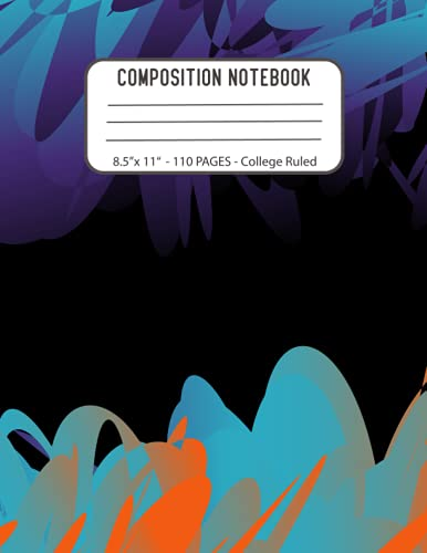 Aesthetic Composition Notebook: COLLEGE RULED · Aesthetic Composition Notebook for School 8.5 x 11 inch with 110 Pages