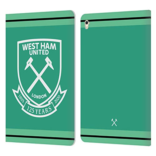 Official West Ham United FC Home Goalkeeper 2020/21 Crest Kit Leather Book Wallet Case Cover Compatible For Apple iPad Pro 9.7 (2016)