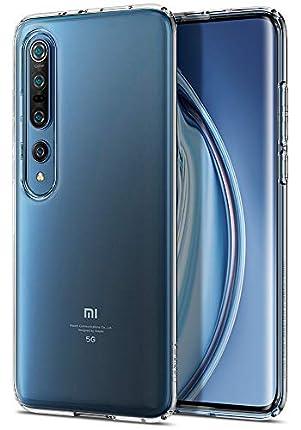 Spigen Funda Liquid Crystal Compatible con Xiaomi Mi 10 y Compatible con Xiaomi Mi 10 Pro - Transparente