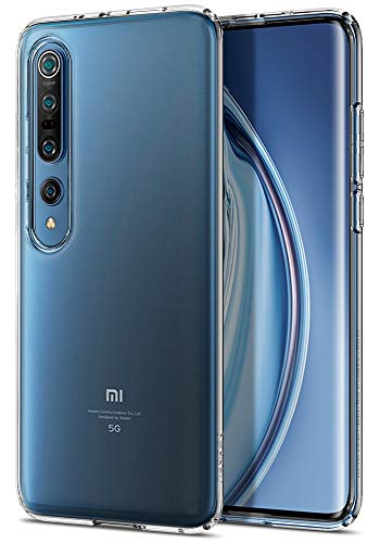 Spigen Liquid Crystal Hülle Kompatibel mit Xiaomi Mi 10, Mi 10 Pro -Crystal Clear