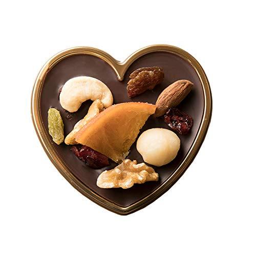 西内花月堂 想いをのせる宝石箱 幸せとショコラ ハイビターチョコレート (小) ミニハート型 (20個セット)