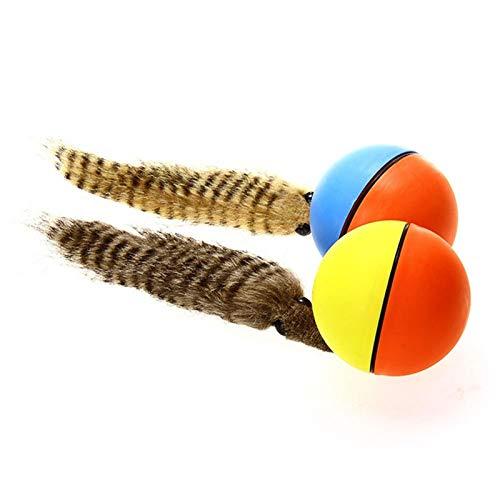 Bola de castor Pelota rodante para mascotas juguete eléctrico del juego del agua del animal doméstico para los gatos y los perros el castor del juguete Bola de regalo para niños color aleatori
