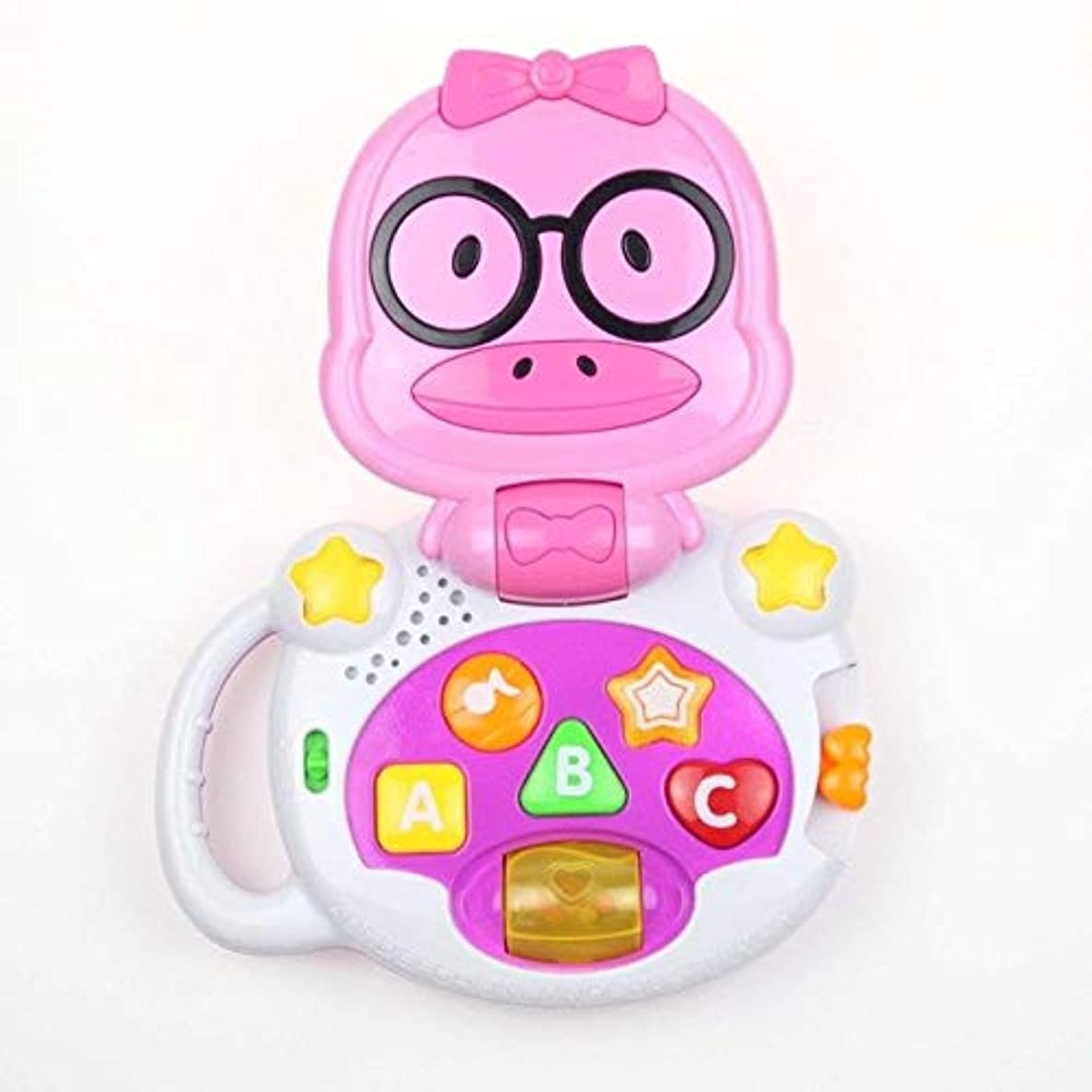 XuBa Baby Music Toys Baby Toys Rattles Cartoon Light Musical Toys for Babies Oyuncak Brinquedos para Bebe Pink