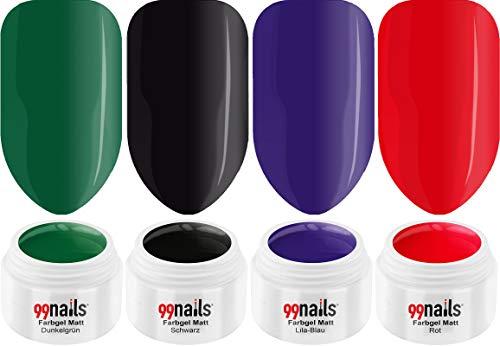 99 Nails Gels UV Set – Tapis Perfection 5 ml pack de 4 (4 x 5 ml)