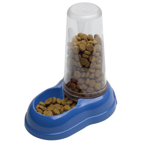 Ferplast Futter- oder Wasserspender für Hunde und Katzen Azimut 1500 Futterspender für Trockenfutter Wasser 1,5 L, robuster Kunststoff, rutschfester Boden, 16,5 x 25 x 24,5 cm blau