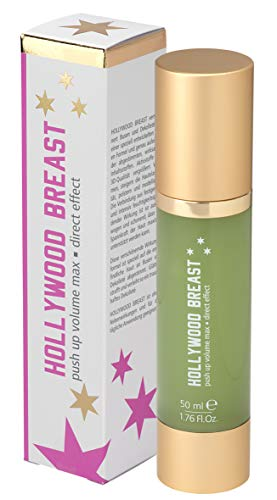 HOLLYWOOD BREAST Push Up Creme | natürliche Brustvergrößerung | Busen Volumen | für glatte, straffe Haut an Dekolleté und Brüsten | mit Anti Aging Effekt (50ml)