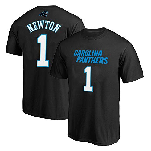 NFL Youth 8-20 Team Color Polyester Performance Mainliner Player Name and Number Jersey T-Shirt (Large 14/16, Cam Newton Carolina Panthers Black)