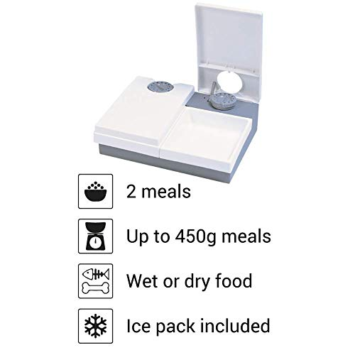 Cat Mate C20 2 Bowl Pet Feeder With Ice Pack