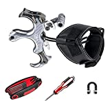 Archery MastersZ MX2 Bow Release KIT Comfortable and Adjustable Compound Bow Release - Archery Release for Hunting, Outdoor and 3D - for Adults and Kids - 3 & 4 Fingers Adjustable (Silver)