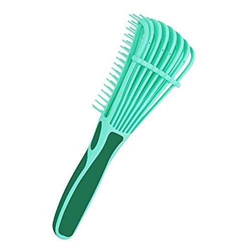 Brosse démêlante pour cheveux naturels, Curved Blow Dryer Vent Brush Detangler pour cheveux afro - Brosse à cheveux en plastique pour cheveux courts -