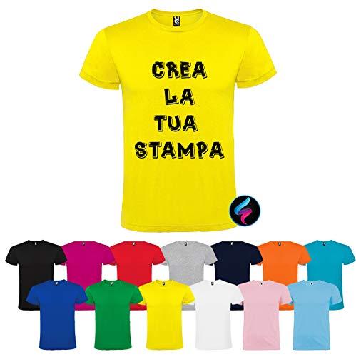 Italian Style Diffusion® Maglietta T-Shirt con Stampa Personalizzata Uomo Donna Personalizzabile Maglia Felpa Cotone