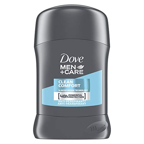 Dove, Deodorante stick per uomo Plus Care Clean Comfort, anti-traspirante, 50ml, Pack of 6