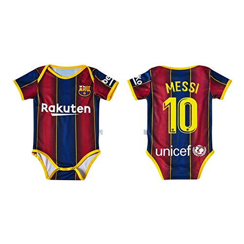 LCHENX-Baby Bodysuit Fan Fußball Trikot, Barcelona Lionel Messi # 10 Baby Boy Mädchen Bodysuit Onesies,6~12 Months