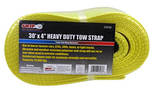 Grip 30 ft x 4 in Heavy Duty Tow Strap