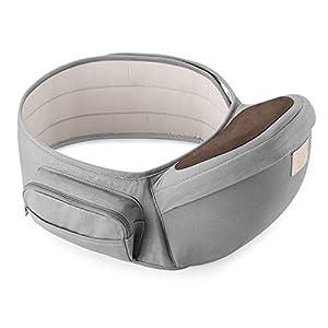 GAGAKU Portabebé Taburete de Cintura para Bebé 0-36 Meses Recién Nacido - Gris