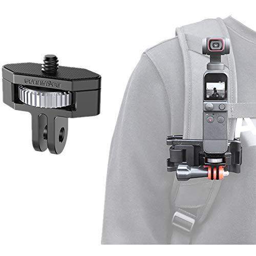 """Hensych Universal 1/4 """"adaptador de metal 360 rotación ajustable aleación de aluminio adaptador transferencia convertidor para OSMO Pocket 2/Insta360 una cámara X2/X/SLR, etc"""