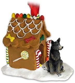 Eyedeal Figurines Blue Heeler AUSTRALIAN CATTLE Dog NEW Resin GINGERBREAD HOUSE Christmas Ornament 87B