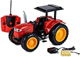 IndusBay® Remote Control RC Farm Tractor Toy Harvest Expert Tractor Truck Toy with Light & Sound (Red)