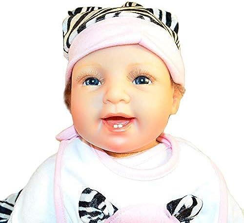 Hongge Reborn Baby Doll,Lebensechte Puppe Reborn Babypuppe realistische Prinzessin Kinder Spielzeug Kindergeburtstag Geschenk 55cm