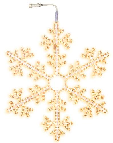 Best Season LED-Ropelight-Silhouette Schneeflocke koppelbar, Durchmesser circa 100 cm 504 warm weiß LED outdoor 800-50