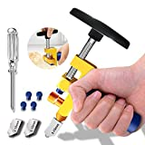 2 in 1 Glass Cutting Tool-Glass Breaking Pliers and Glass Cutter, Mirror Cutting Kit, Tungsten Glass Cutting knife for Ceramic, Glass and Mirror, Manual Tile Cutter with Glass Breaker