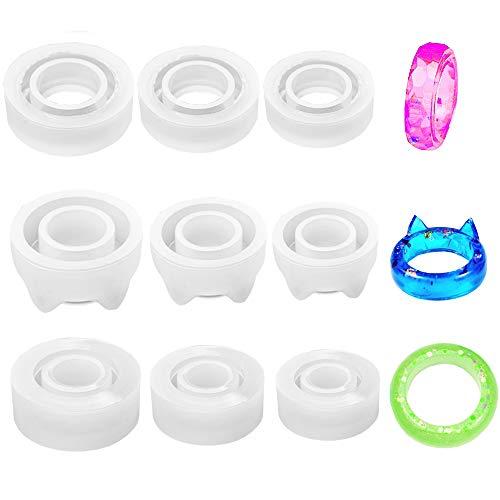 Daimay - Molde de silicona para anillos de resina epoxi,