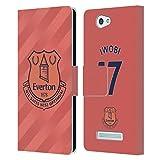 Head Case Designs Offizielle Everton Football Club Alex Iwobi 2019/20 Spieler Away KIT Gruppe 1 Leder Brieftaschen Huelle kompatibel mit Wileyfox Spark/Plus