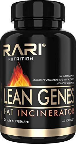 RARI Nutrition - Lean Genes Fat Burner - Natural Fat Burner and Appetite Suppressant Weight Loss Pills for Men and Women - Keto and Vegan Friendly - 30 Servings
