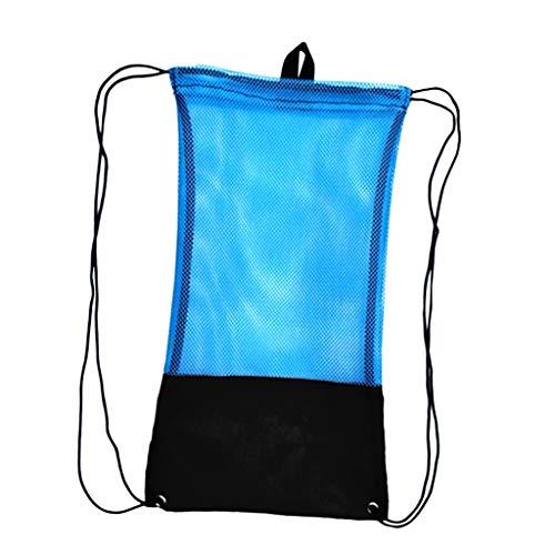 MMI-LX Malla con Asas for el Buceo Snorkel Aletas Gafas de Agua máscara Piscina Accesorios Lago Bay Deportes de Aventura Diver Buceo y natación (Color : Blue)