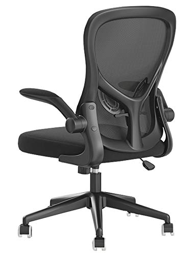 Executive Chair Office Ergonomic Swivel Mesh Mid-Back Computer Desk Chair with Flip-up Arms Office Desk Chair with Adjustable Lumbar Support