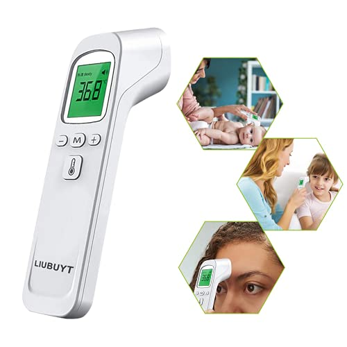 LIUBUYT No-Touch Forehead Thermometer for Kid,Baby,Adult, Infrared Adult Thermometer for Adults and Kids,Digital Infrared Thermometer, for Kid,Baby,Adult Thermometer