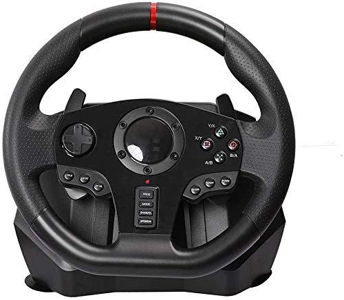 ZSTY Juego Simulador Vertical, Volante de Carreras V900 Volante Ajustable, con Pedales, para Nintendo Switch PC / PS3 / 4 / Xbox One