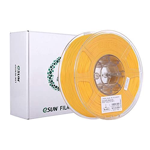 eSUN Flexible TPE Filament 1.75mm, TPE-83A 3D Printer Filament, 1KG Spool 3D Printing Filament for 3D Printers, Yellow