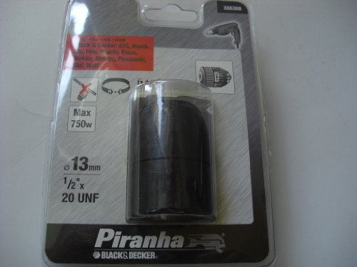 "BLACK & DECKER X66368-QZ - Portabrocas automático ø 13 mm. Rosca hembra. 1/2"" x 20 UNF. Máx. 750W."