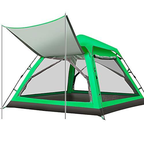 Tente De Camping éTanche 3-4 Personnes Pare-Soleil Automatique BâChe Pare-Soleil ExtéRieur Ombre pour Beach Party Pique-Nique Famille Vacances Alpinisme-Green