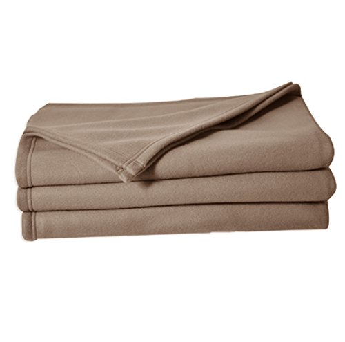 POYET MOTTE POLECO Couverture polaire Polyester Taupe 240 x 260 cm