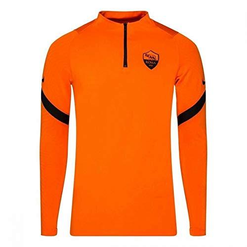 NIKE Roma M NK Dry Strk Dril Top Cl Long Sleeved t-Shirt, Hombre, Safety Orange/Black/Black no sponsor-3rd