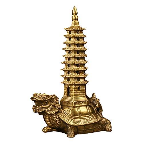 KAUTO Statue de Tortue Dragon avec pagode Wenchang, décorati