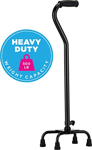 NOVA Heavy Duty Quad Cane, 500 lb. Weight Capacity Four Legged Walking Cane, Height (for Users 4'1 - http://coolthings.us