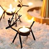 CENPEN 3 unids Navidad Ciervos en Forma de Vela de té Tenedor de luz de Hierro Europeo Candlestick Barra de Boda Decoración del Partido