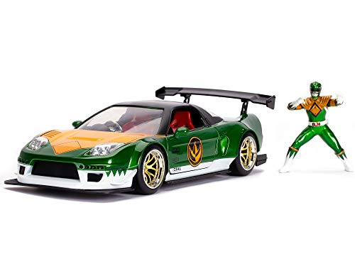 Power Rangers Green Ranger & 2002 Honda NSX Type-R Japan Spec 1:24 Die - Cast Vehicle with Figure