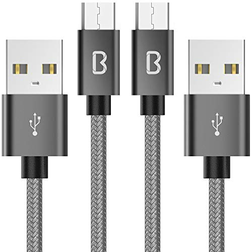 Beikell Micro USB Kabel, 2-Pack [6.6ft/2M] Nylon USB Ladekabel geflochtenes für Android Smartphones, Samsung, HTC, Sony, Nexus und mehr
