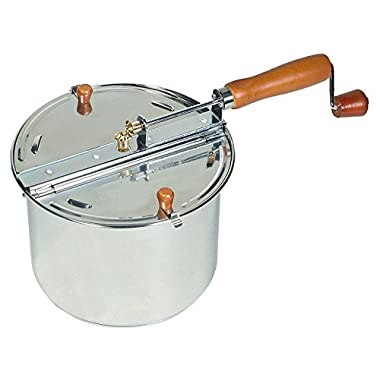 Cook N Home 6 Quart Stainless Steel Stovetop Popcorn Popper