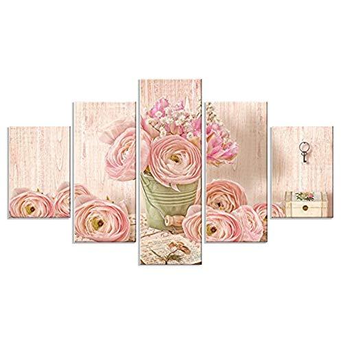 Lupia Vogue - Cuadro de Paneles , Diseño romántico, Madera, 66 x 115 x 0.8 cm